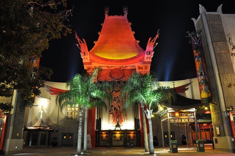 китайский grauman театр ночи s стоковая фотография rf