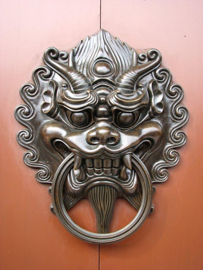китайский knocker двери стоковое фото