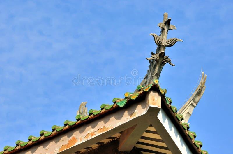 Китайское впечатление традиционного здания стоковое изображение rf