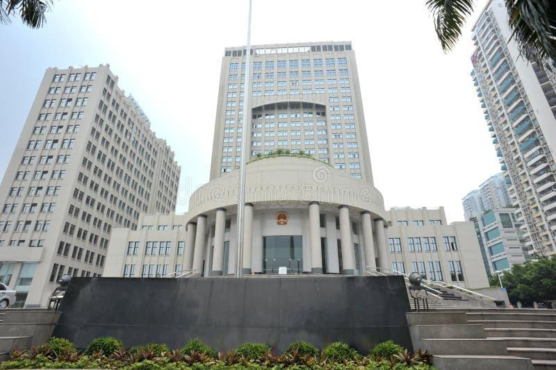 китайское здание суда стоковое изображение