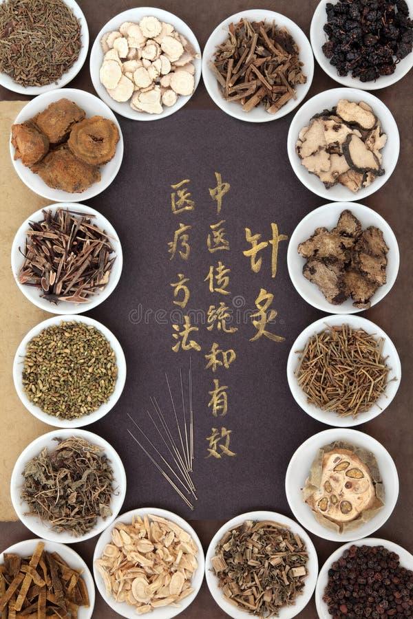Китайское иглоукалывание стоковое фото rf