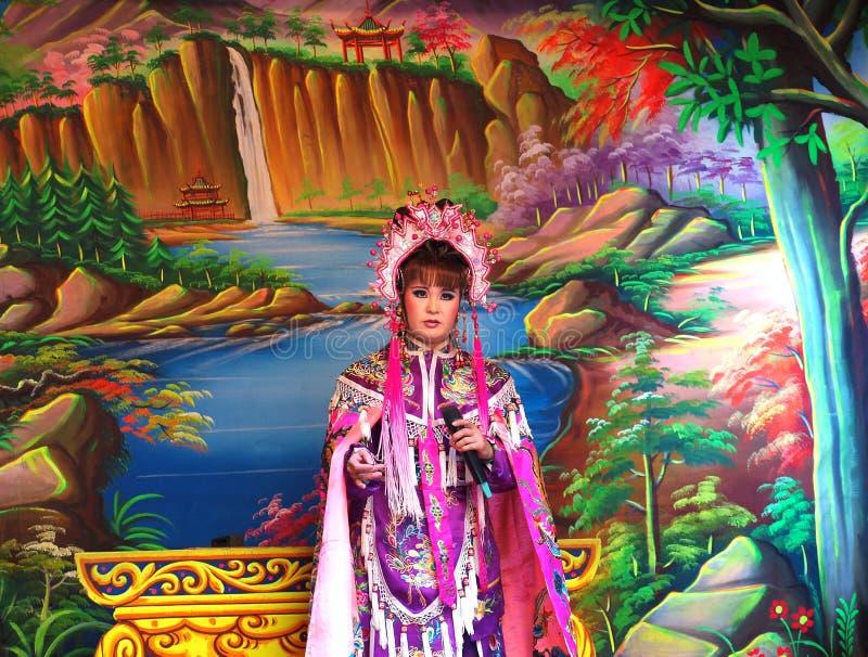 Китайское представление оперы стоковые изображения