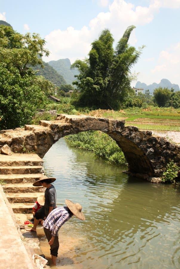китайское сельское yangshuo места стоковая фотография
