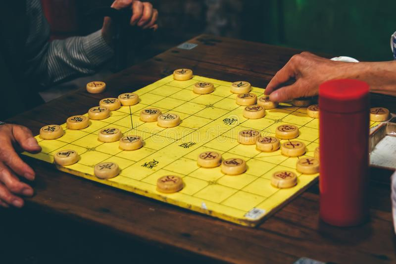 Китайское сокровище души - шахматы стоковые изображения rf