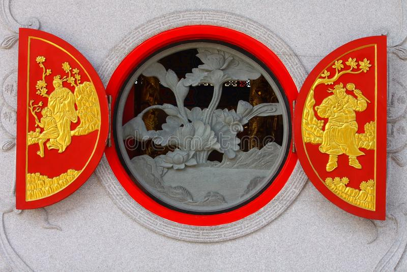китайское традиционное окно стоковое изображение