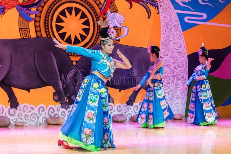 китайское miao танцы стоковая фотография rf
