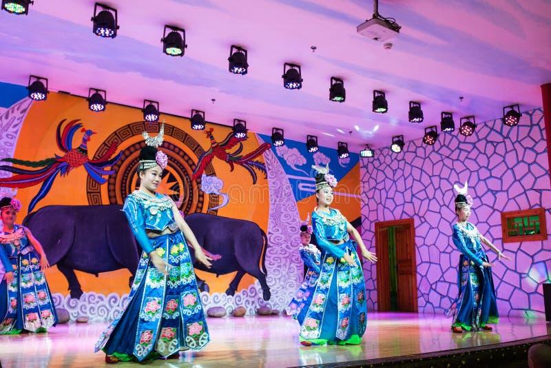 китайское miao танцы стоковые фото