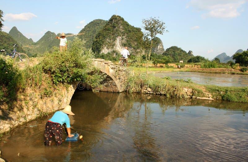 китайское yangshuo села места стоковое изображение