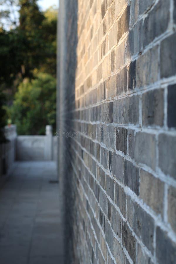 китайско классическо Голубой серый цвет Стена стоковые изображения