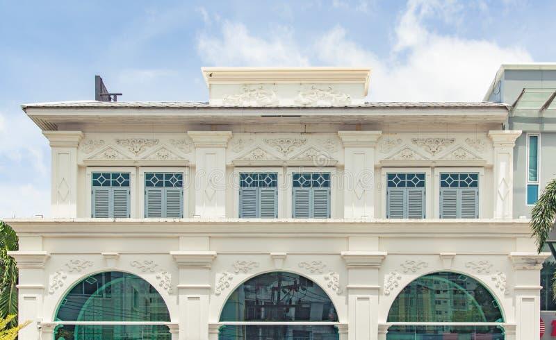 Китайско-португальские здания стиля стоковые изображения rf