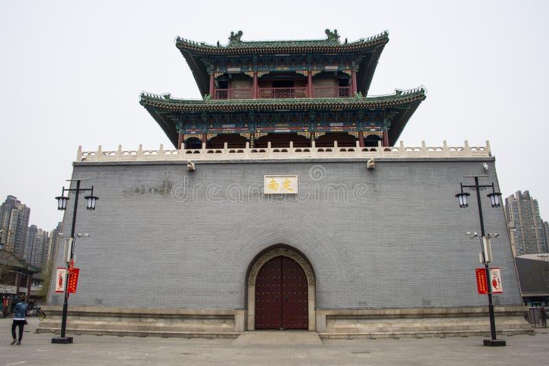 Китай, Азия, центральный Тяньцзинь, башня барабанчика стоковые изображения