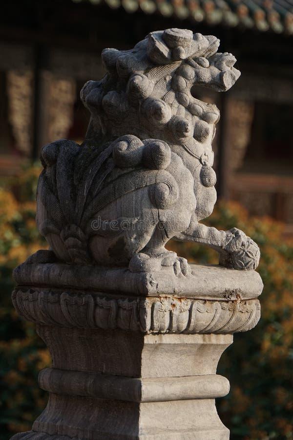 Китай: Каменный лев стоковые изображения rf