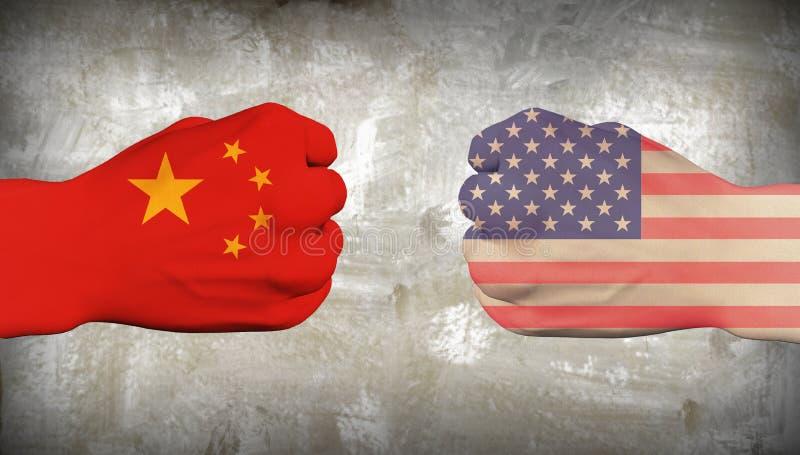 Китай против США бесплатная иллюстрация