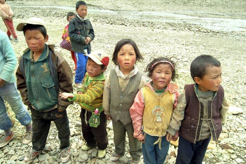 Китай, Тибет, люди стоковое фото