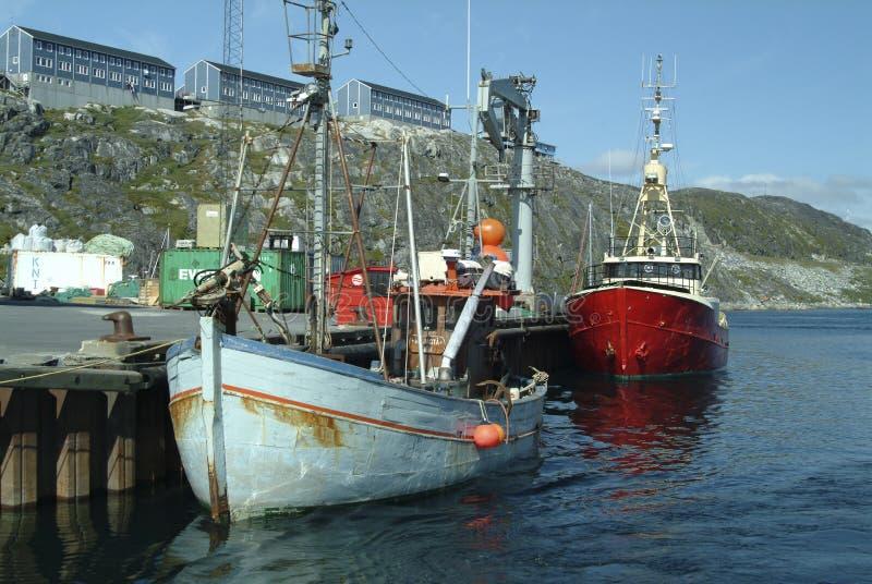 Китобойное судно Гренландии с оружием остроги стоковые фотографии rf