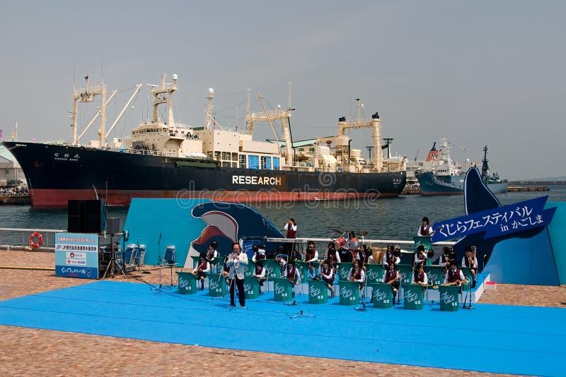 китоловство корабля nisshin maru празднества японское стоковые фото