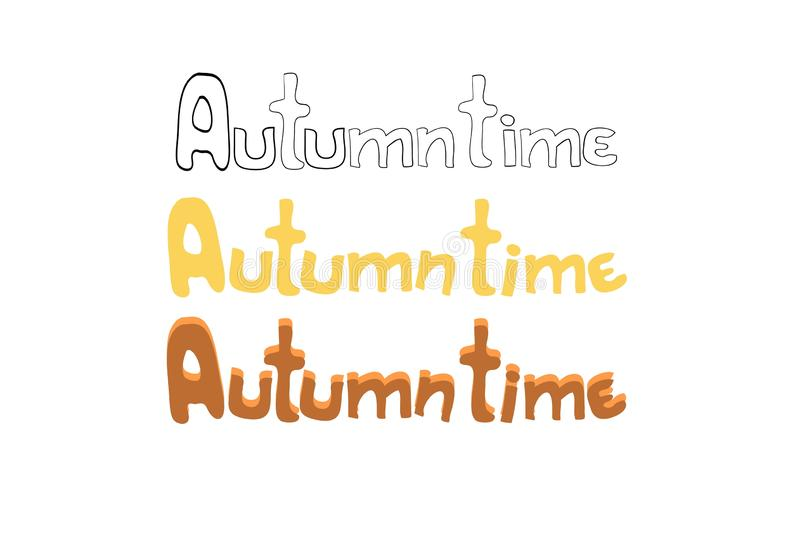 Autumn time vector illustration