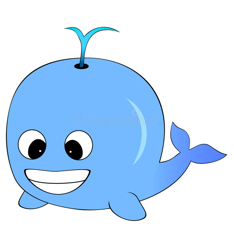 кит голубого шаржа милый иллюстрация штока