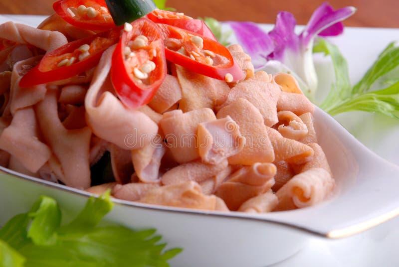 кишечник утки фарфора chili вкусной зажаренный едой стоковые изображения