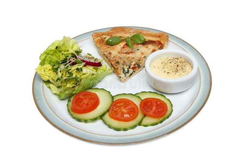 Киш и салат стоковые фотографии rf