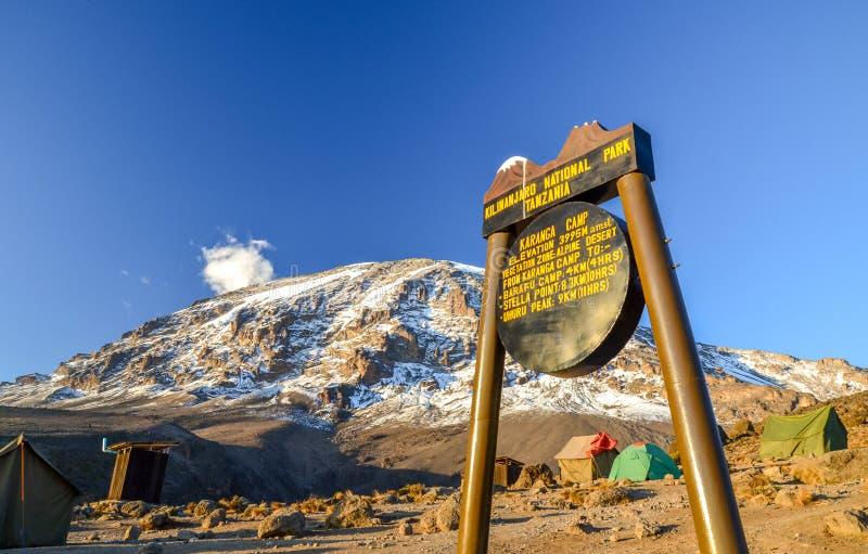 Килиманджаро в солнце вечера - Танзания, Африка стоковые фотографии rf