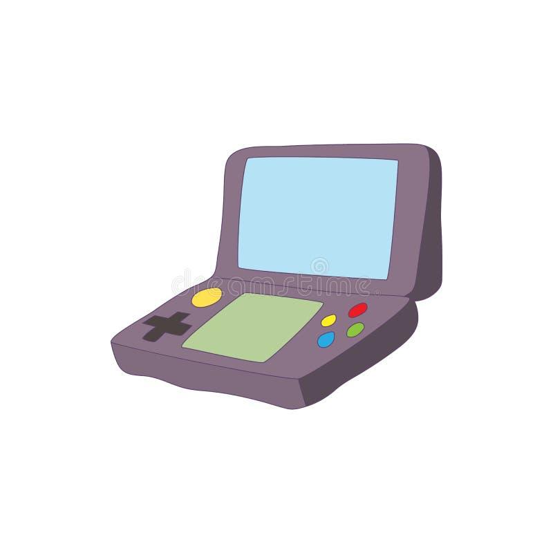 Клавиатура игры для значка таблетки, стиля шаржа иллюстрация вектора