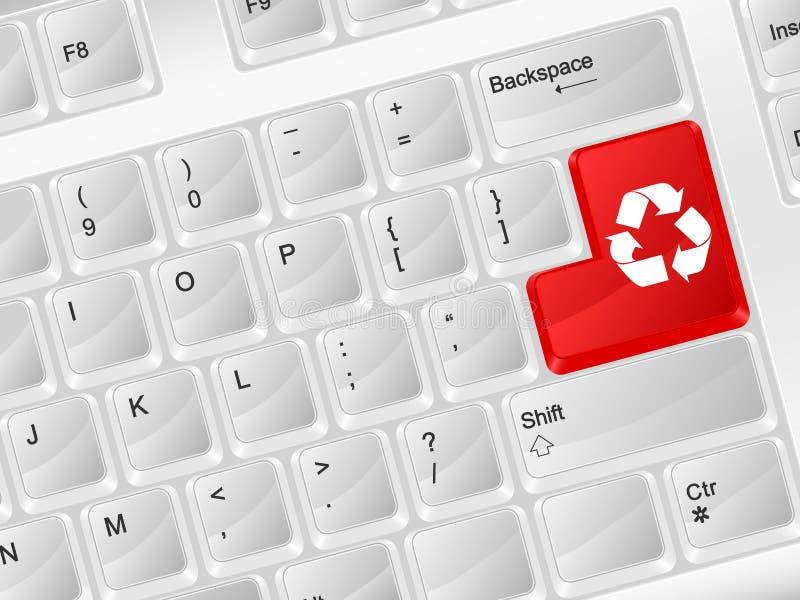 Клавиатура компьютера рециркулирует символ бесплатная иллюстрация