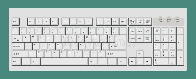 клавиатура компьютера иллюстрация вектора