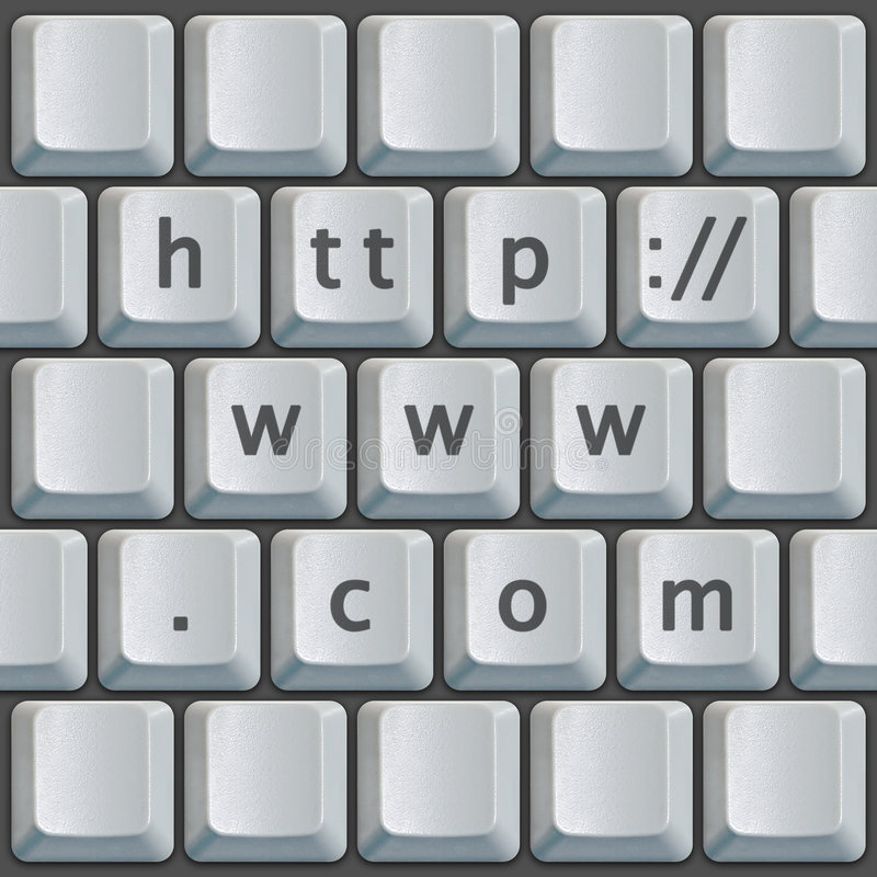 клавиатура www http com стоковое фото rf