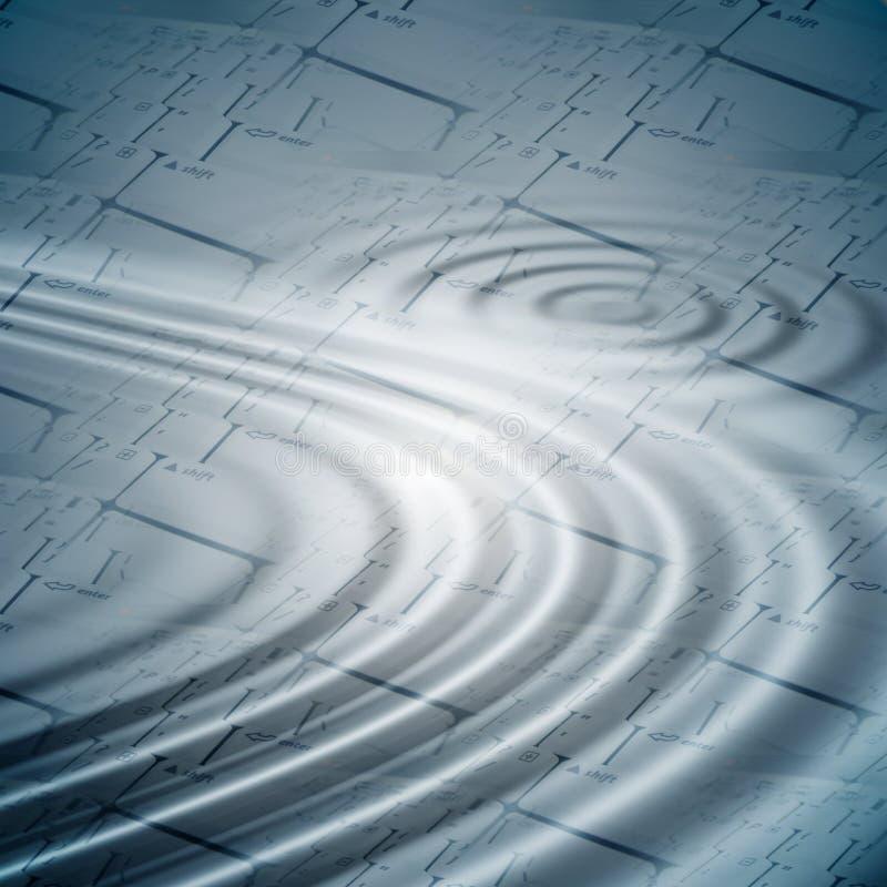 клавиатуры предпосылки над пульсациями иллюстрация вектора