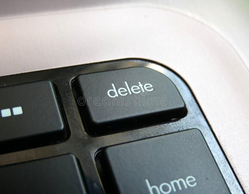Клавиша delete на клавиатуре стоковое изображение