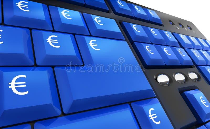 клавиши на клавиатуре евро компьютера иллюстрация штока