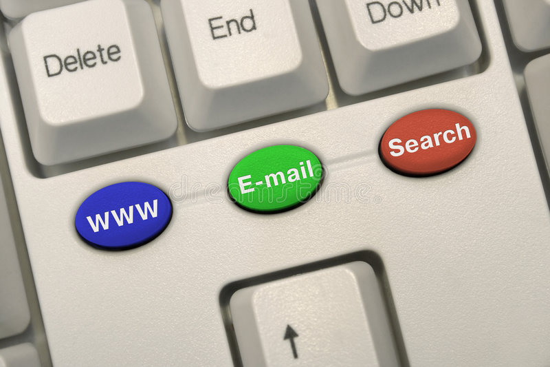 клавиши на клавиатуре интернета стоковая фотография