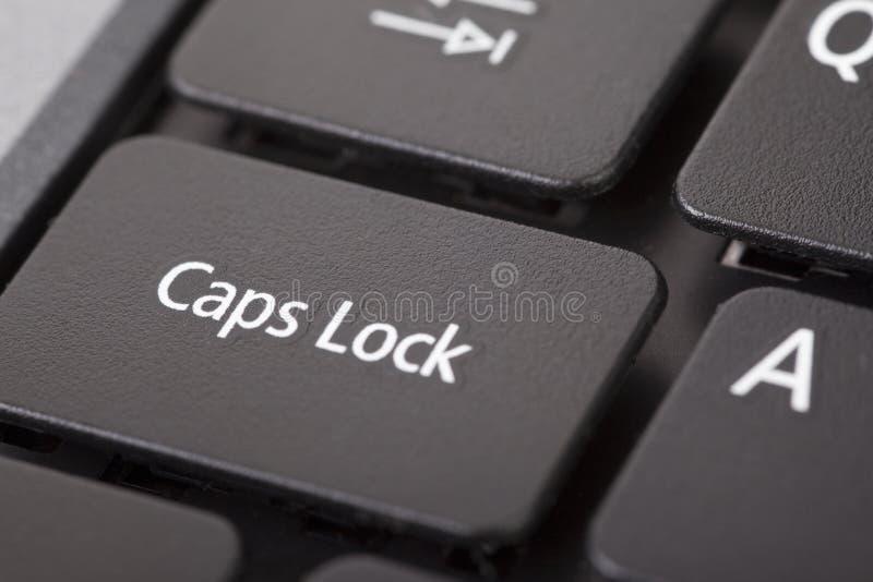 клавиш фиксации заглавного регистра стоковое фото rf