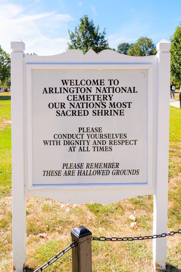 Кладбище Арлингтона национальное, Вашингтон стоковое фото