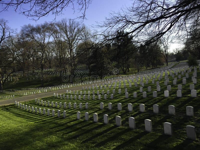 Кладбище Арлингтона национальное стоковое изображение