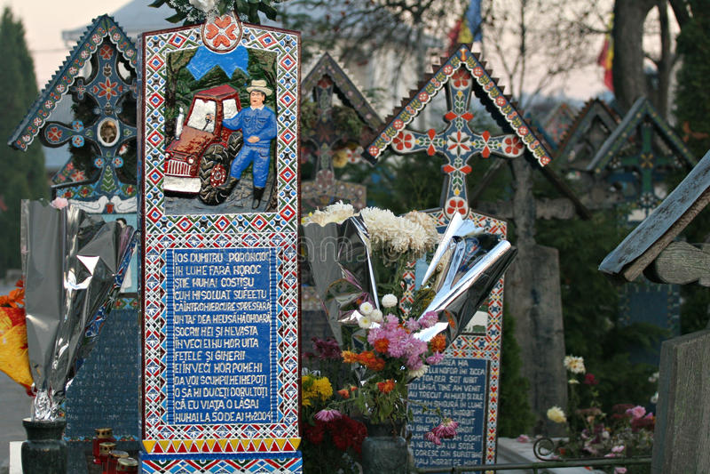 кладбище веселое стоковое изображение rf