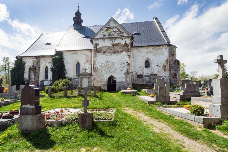 Кладбище в Velhartice стоковое изображение rf