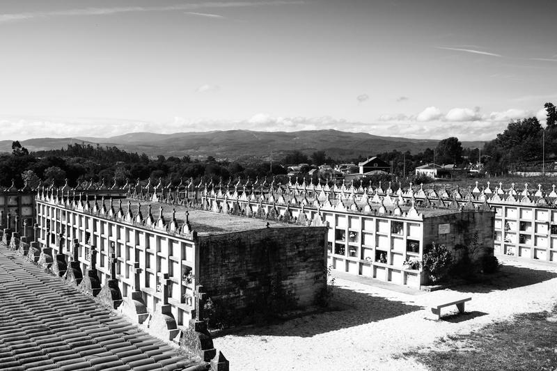 Кладбище, Галиция, Испания стоковое фото rf