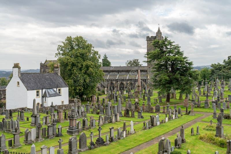 Кладбище за церковью святое грубого, в Стерлинге, Sc стоковые изображения