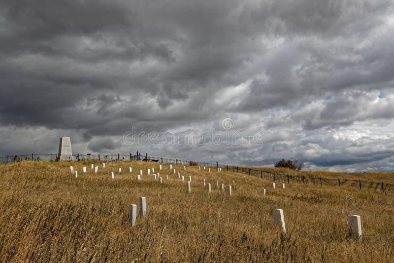 Кладбище и памятник Custer национальное на меньшем Bighorn стоковые фото