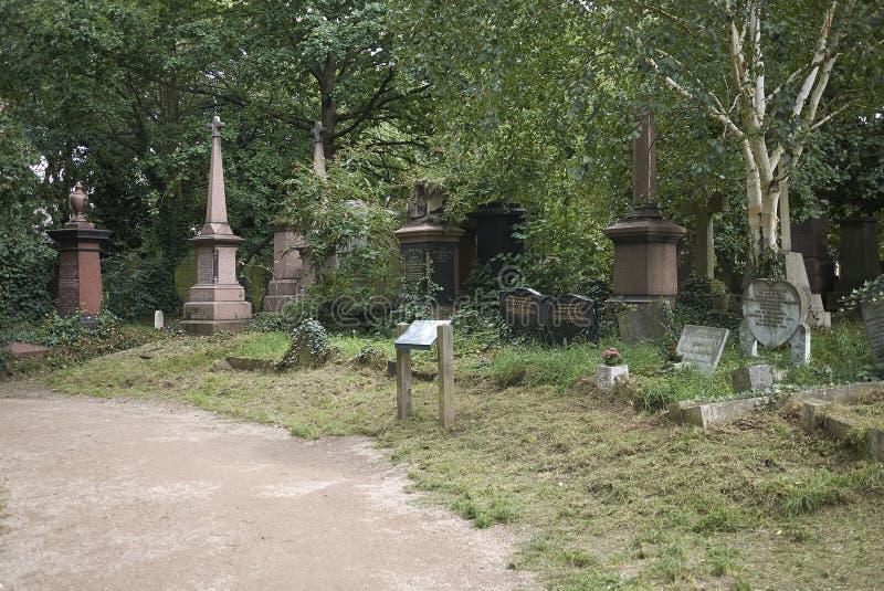 Кладбище парка Abney стоковые фотографии rf