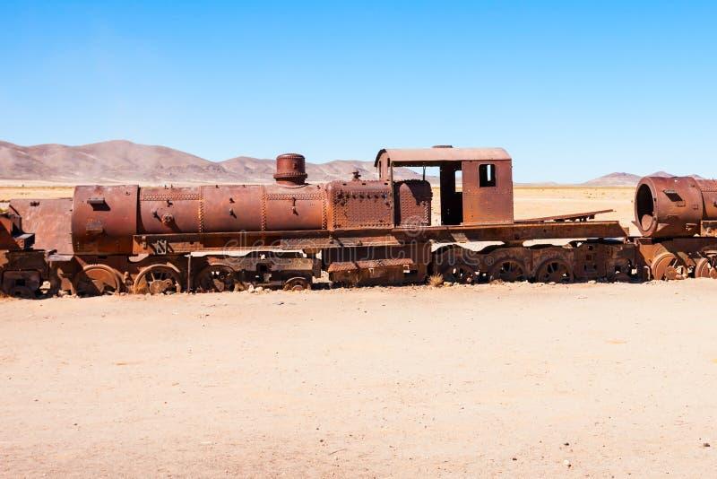 Кладбище поезда, Боливия стоковое фото rf