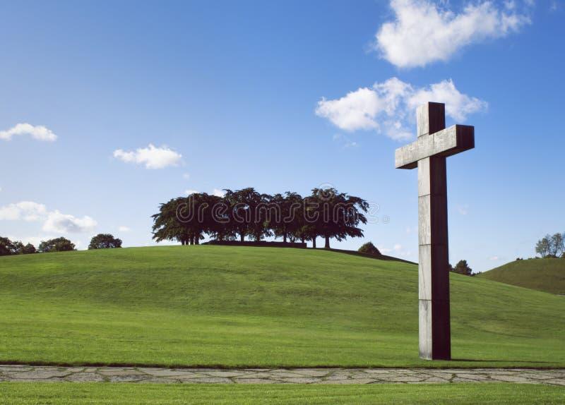 Кладбище полесья, Стокгольм Всемирное наследие ЮНЕСКО стоковое изображение rf