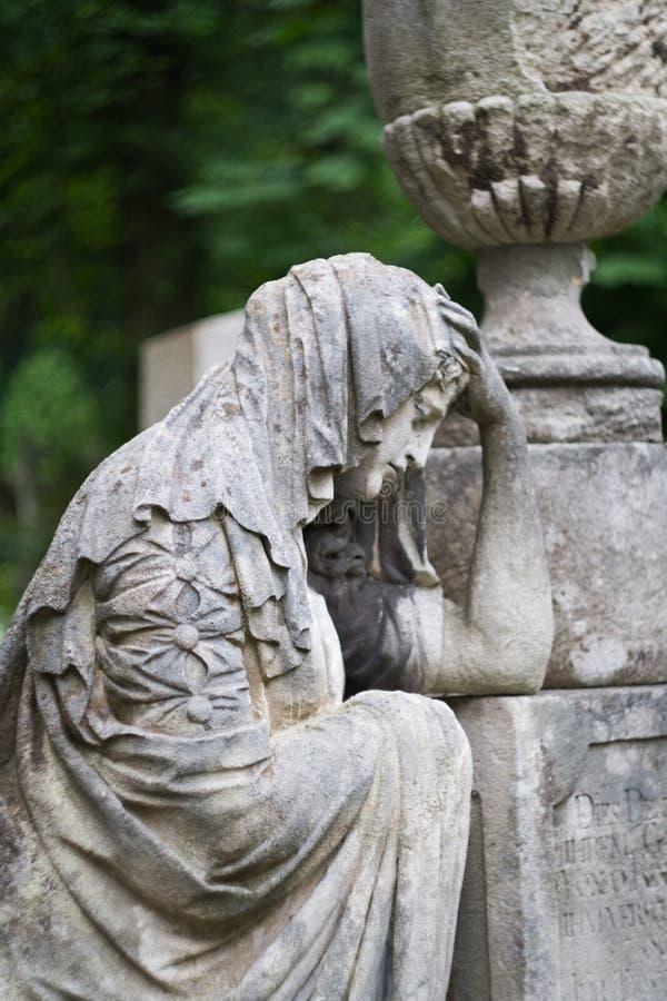 Кладбище скульптуры стоковые изображения