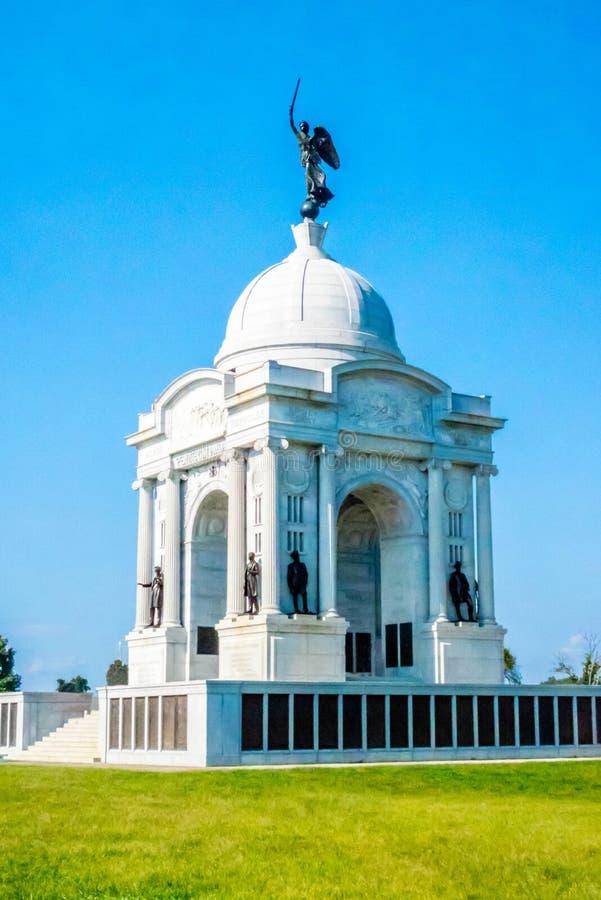 Кладбище Соединенных Штатов национальное в Gettysburg, Пенсильвании стоковые фотографии rf