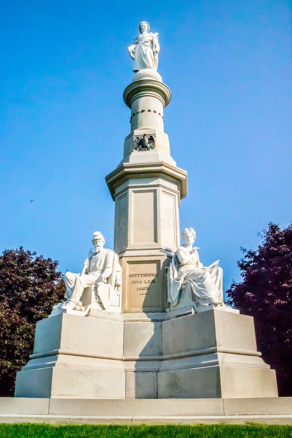 Кладбище Соединенных Штатов национальное в Gettysburg, Пенсильвании стоковые изображения rf