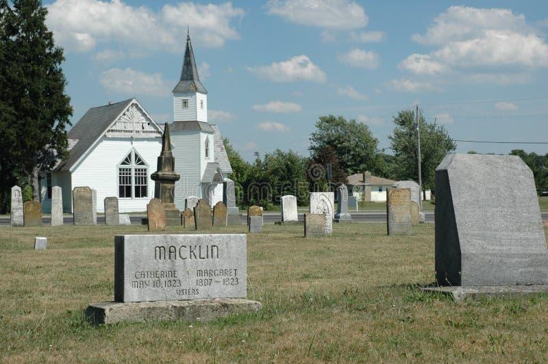 кладбище старое стоковое изображение rf