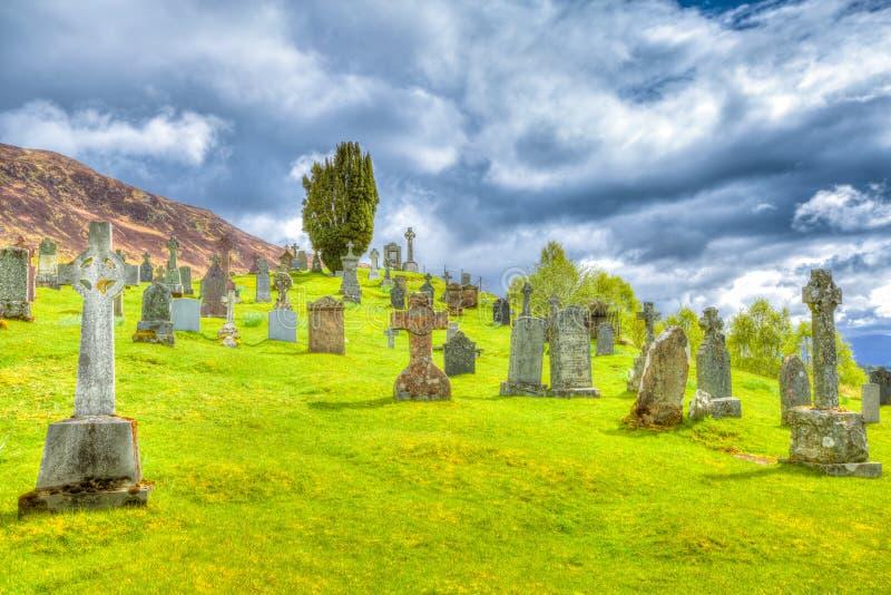 Кладбище Cille Choirill стоковые изображения