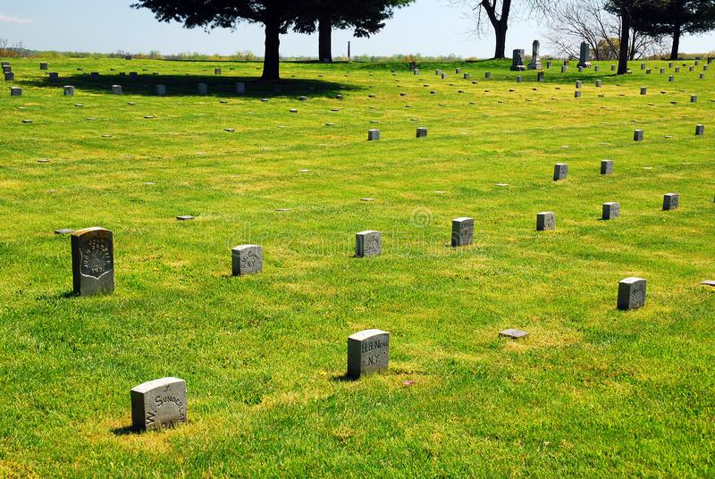 Кладбище Fredericksburg национальное стоковая фотография
